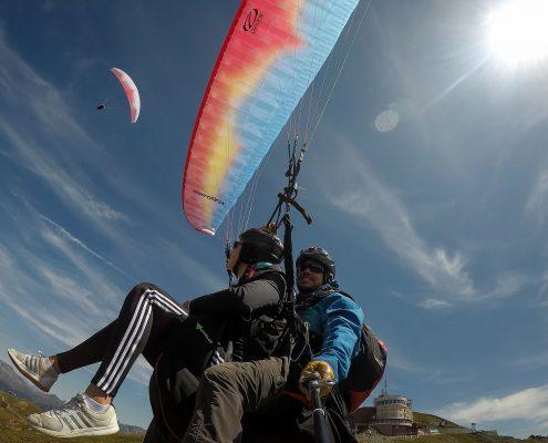 Paragliding Thermikflug zu zweit (Gruppenflüge)