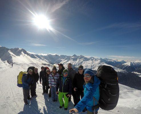 Gleitschirm-Firmenausflug in Davos