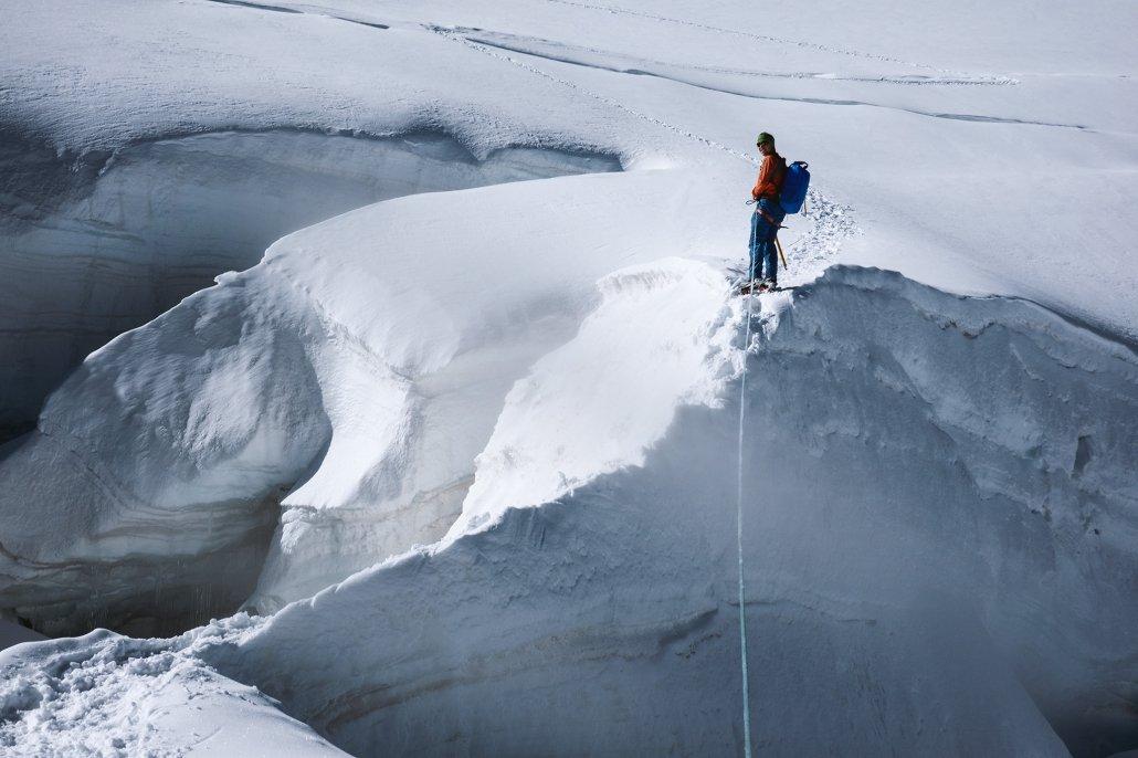 Piz Palü Aufstieg über die Gletscherwelt