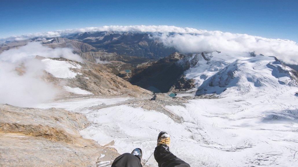 360 Grad Aussicht kurz nach dem Hike&Fly Start