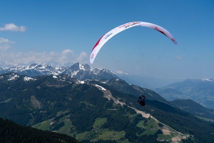 Red Bull X-Alps 2019 Prolog Grießenkareck Gin Puma kurz nach dem Start