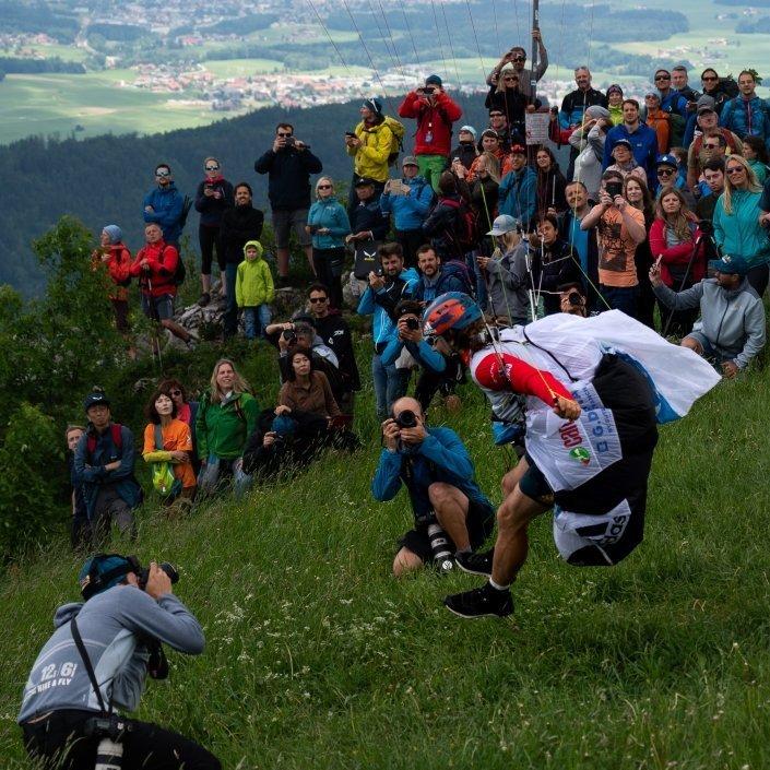 Red Bull X-Alps 2019 Salzburg Gaisberg Antoine Girards start ist gut dokumentiert