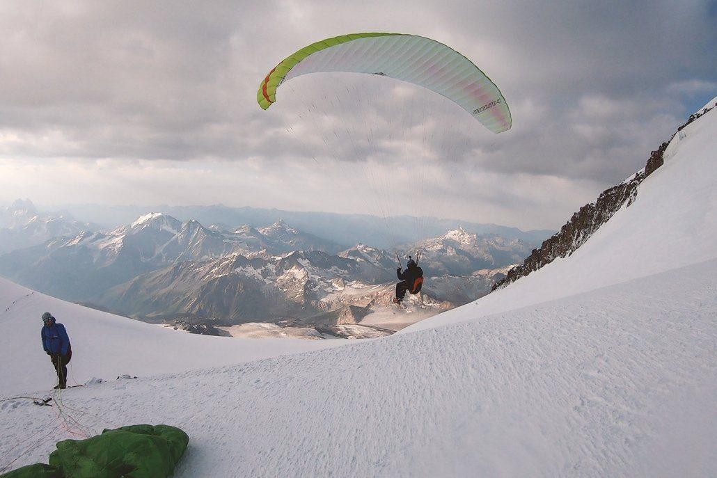 Hike And Fly Elbrus Gleitschirmstart