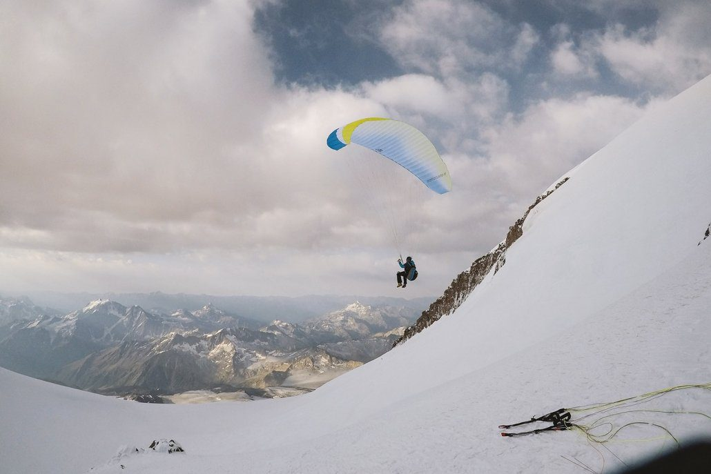 Hike and Fly Elbrus Start Gleitschirm