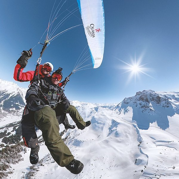 Air-Davos Paragliding Thermikflug in Klosters
