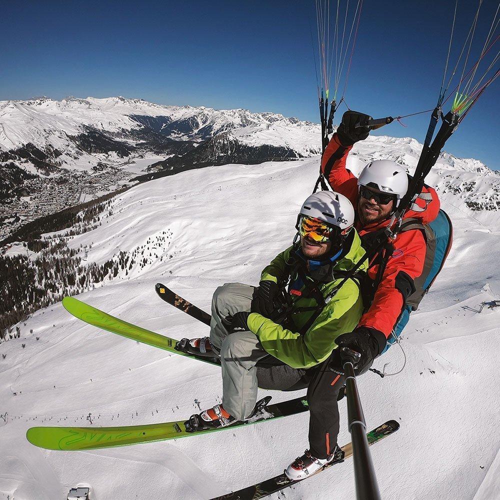 Paragliding Ski&Fly Geschenk-Gutschein in Davos