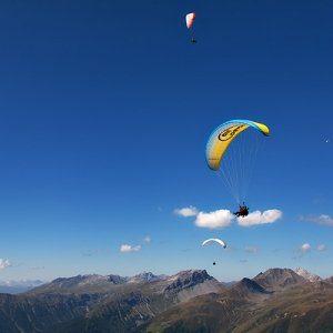 Paragliding Thermikflug Davos