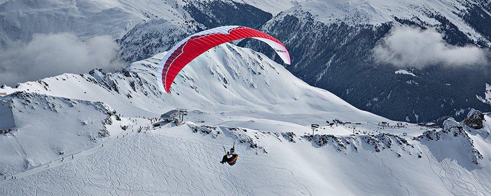 Paragliding-Start Weissfluhgipfel / Davos