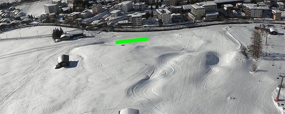 Gleitschirm Winter Landeplatz Davos Carjöl
